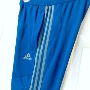 Adidas track pants with iconic 3-stripes size M